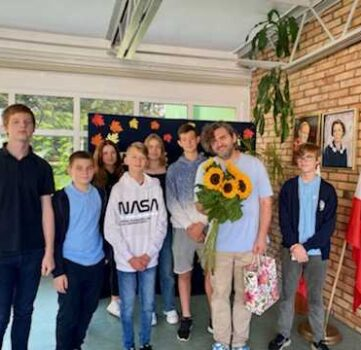 Odwiedziny pana Piotra Pawlickiego w szkole…